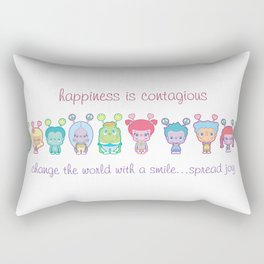 Happiness Is Contagious Rectangular Pillow