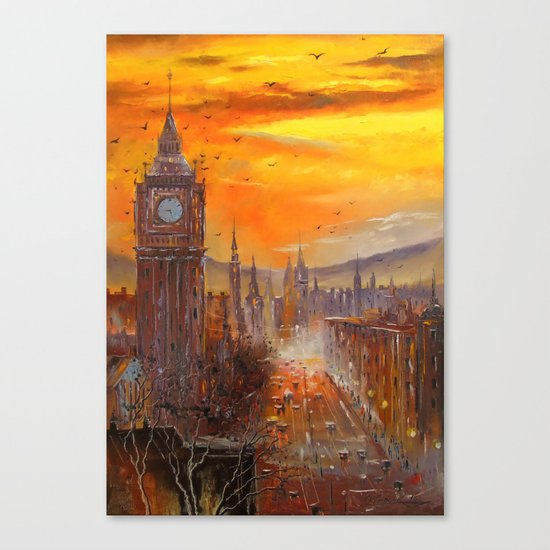 London Evening Canvas Print