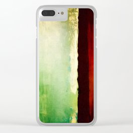 Abstract With A Red Stripe Clear iPhone Case