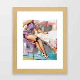 Head Above Water Framed Art Print