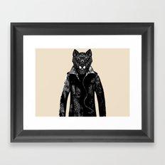 DapperWolf Framed Art Print