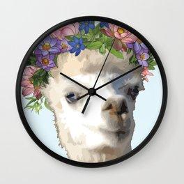 Tina, the drama llama Wall Clock