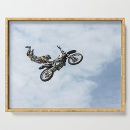 Motocross High Flying Jump Serving Tray