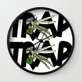 Trap Grasshopper Wall Clock
