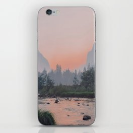 Yosemite Valley Sunrise Pretty Pink iPhone Skin