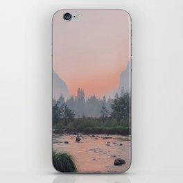 Yosemite Valley Sunrise Pretty Pink iPhone Skin