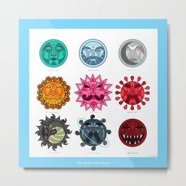 Gemstones in Astrology Metal Print