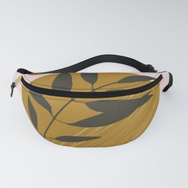 Pinky Circle and Leaf Fanny Pack