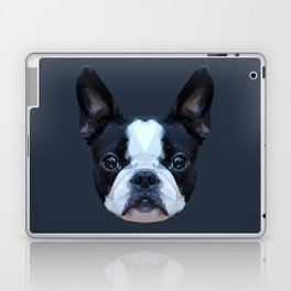 Frenchie / Boston Terrier // Navy Laptop & iPad Skin