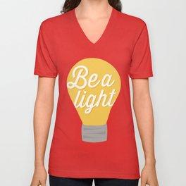 Be a light to the world Unisex V-Neck