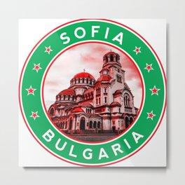 Bulgaria, Alexander Nevsky Cathedral, circle, green Metal Print