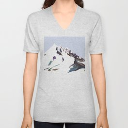 Mountains In The Cold Design Unisex V-Neck