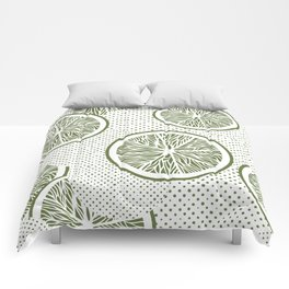 Orange slices and dots seamless pattern, from the Orange Blossom Pattern Collection Comforters