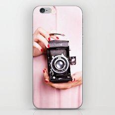 Vintage camera love iPhone & iPod Skin