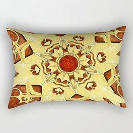 Brass and Burl Mandala Rectangular Pillow