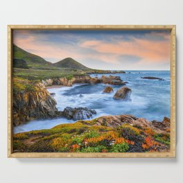 Garrapata Beach Sunrise, Big Sur Serving Tray