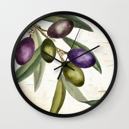 Olive Branch I Wall Clock