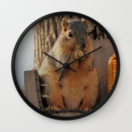 Sibyl At The Feeder Wall Clock