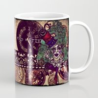mad hatter Mugs featuring Gothic Mad Hatter by AKIKO