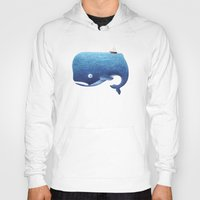 moby Hoodies featuring Moby Dick by Arianna Usai