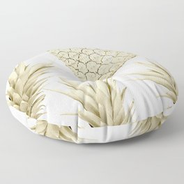 Gold Pineapple Party Floor Pillow