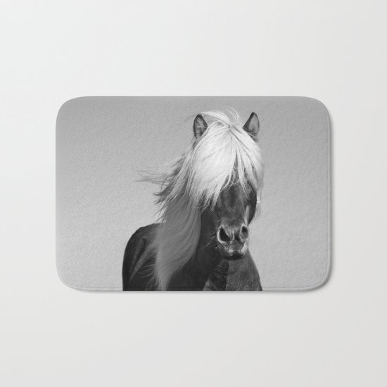 Portrait of a Horse in Scotish Highlands Bath Mat