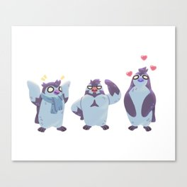 Partners in Crime... And Other Penguin Things Canvas Print