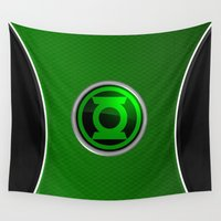 green lantern Wall Tapestries featuring Green Lantern by Thorin
