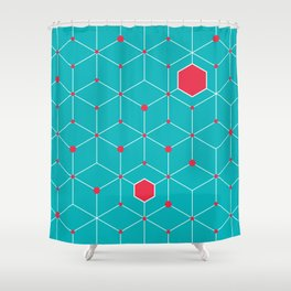 Griddy pattern Shower Curtain