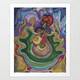 El Caracol Del Camino  Art Print