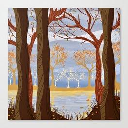 Autumn Leaves Autumn Woods Canvas Print
