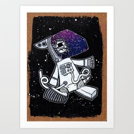 The Last Dog In Space Art Print