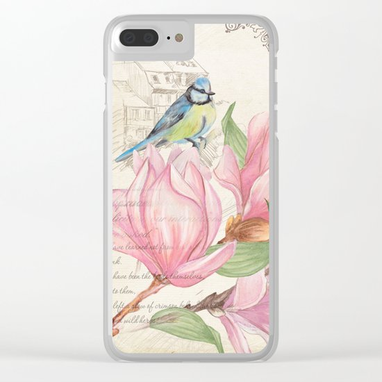 Macro flower #10 Clear iPhone Case