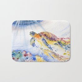 Going Up Sea Turtle Bath Mat