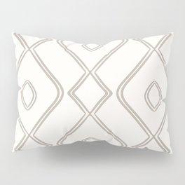 Modern Boho Ogee in Cream Pillow Sham