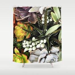 Exotic Succulent Garden Shower Curtain