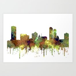 Milwaukee, Wisconson Skyline SG - Safari Buff Art Print