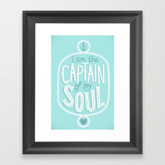 I am the Captain of my Soul Framed Art Print
