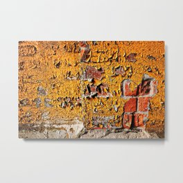 Orange Peel Metal Print