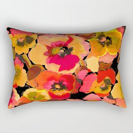 peach  floral Rectangular Pillow