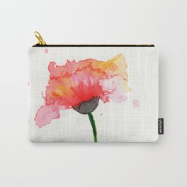 Loose Watercolour Poppy Painting Carry-All Pouch