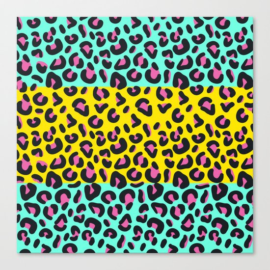Abstract Leopard Pattern Canvas Print