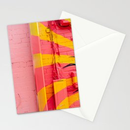 Pink and Yellow Stationery Cards