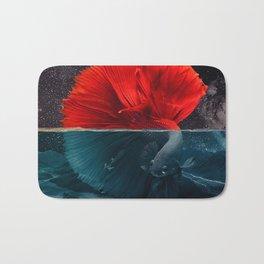 Red Siamese Fighting by GEN Z Bath Mat
