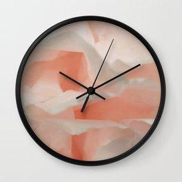 Pink cloud abstract texture Wall Clock