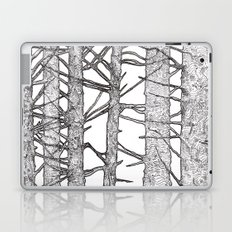 Black & White Trees Laptop & iPad Skin