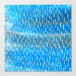 Blue Rain Canvas Print