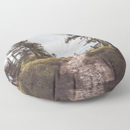 Over the mountains and through the woods Floor Pillow
