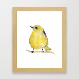 Little Yellow Bird Framed Art Print