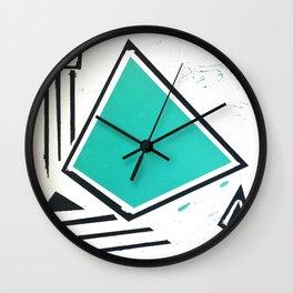 pyr bleu Wall Clock